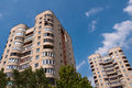 Typical socialist blocks of flats built during communism period in vilnius lithuania Royalty Free Stock Photography