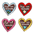 Typical souvenir at the Oktoberfest in Munich -gingerbread-heart Royalty Free Stock Photo