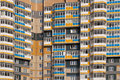Typical soviet apartments view of a building in russia Stock Photography
