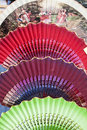Typical spanish fans Royalty Free Stock Photo