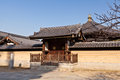 Typical structure eastern temple tennoji japan Stock Photography