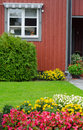 Typical Swedish front garden Stock Photos