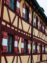 Typical timbered house in germany nuremberg Royalty Free Stock Images