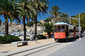 Typical tramway of puerto de soller majorca spain Royalty Free Stock Photography