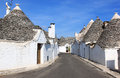 Typical trulli street in alberobello italy is a small town and comune the italian province of bari puglia and is famous for its Stock Photography