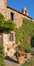 Typical Tuscan Farmhouse Royalty Free Stock Photo