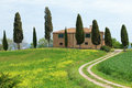 Typical Tuscany farmhouse Stock Photos