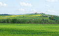 Typical Tuscany landscape with beautiful hills Royalty Free Stock Image