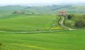 Typical Tuscany landscape with green hills Royalty Free Stock Image