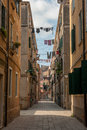 Typical venetian street italy europe Stock Photography
