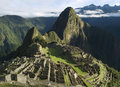Typical view of Machu Picchu, Peru Royalty Free Stock Photos