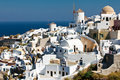 The typical view on Santorini, village Oia Stock Image