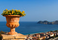 Typical view of sicily beautiful the coast italy Royalty Free Stock Photos
