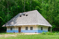 Typical village house in ukrainian countryside with gardens around Royalty Free Stock Photos