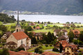 Typical village in Switzerland Stock Images
