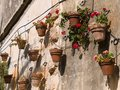 Typical wall planter pots Tuscany Italy style Royalty Free Stock Photos