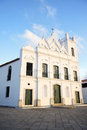 Typical White Colonial Church Northeastern Brazil Royalty Free Stock Photo