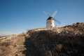 Typical windmill in Castilla la Mancha, Spain Stock Images