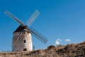 Typical windmill in Castilla la Mancha, Spain Royalty Free Stock Images