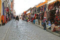 The typical witch market of la paz in bolivia with a lot of magic shops Royalty Free Stock Images