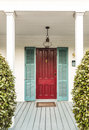 Typical wooden entrance at an old historic house in key west Royalty Free Stock Photo