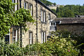 Typical yorkshire millworker cottages typicalyrkshire stone in hebden bridge Royalty Free Stock Photo