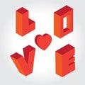 Typo Love Blocker Royalty Free Stock Photo