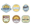Typographic Bicycle Themed Label Design Set - Bike Shop Royalty Free Stock Photo