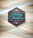 Typographic label merry christmas and happy new year use it for your winter holidays design vector illustration Royalty Free Stock Image