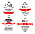 Typographic with ribbon vintage label Stock Photography