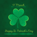Typographic Saint Patrick's Day retro background. Vector design greetings card or poster.