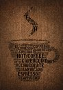 Typographic symbol cup coffee printed burlap Stock Photography
