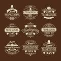 Typographic Thanksgiving Design Set. Vector Royalty Free Stock Photo