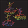 Typographic whirling dervishes Stock Image
