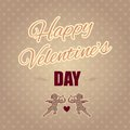 Typographical banner happy valentine s day Royalty Free Stock Image