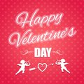 Typographical banner for valentine s day happy Royalty Free Stock Images
