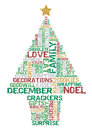 Typographical christmas tree great illustration of retro styled created with elements Royalty Free Stock Image