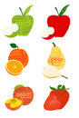 Typographical fruits Stock Photography