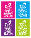 Typographical gift boxes vector for special events Royalty Free Stock Photography