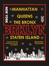 New york, manhattan, the bronx, staten island, brooklyn , vectors Royalty Free Stock Photo