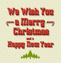 Typography christmas greeting card vector illustration Stock Photography