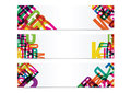 Abstract Colorful Triangular header set