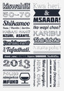 Typography com elementos do infographics Foto de Stock