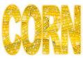 Typography with Corn Texture Royalty Free Stock Photos
