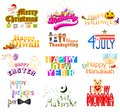 Typography design for holidays vector illustration of Royalty Free Stock Photo
