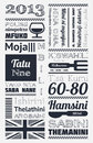 Typography with elements of infographics Stock Photography