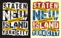 New york city staten island, vectors Royalty Free Stock Photo