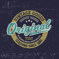 Typography vintage outfit brand logo print for t-shirt. Retro illustration