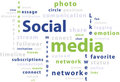 Typography word cloud tags of social media Stock Photos