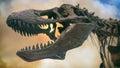 Tyrannosaurus Rex Dinosaur Fossil Smoke Royalty Free Stock Photo